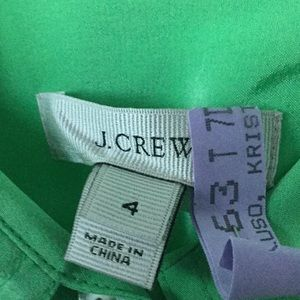 J. Crew Tops - 100% silk lime green button down